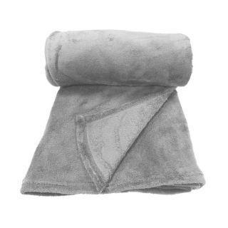 Plaid moelleux 125/150 today zinc   Achat / Vente COUVERTURE   PLAID