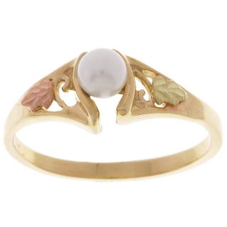 Black Hills Gold and Cultured Pearl Ring