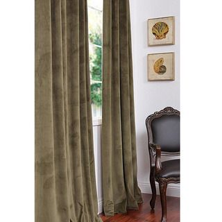 Signature Hunter Green Velvet 108 inch Blackout Curtain Panel
