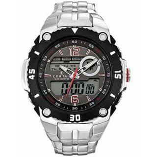 Certus Paris Mens Stainless Steel Black Digital Dial Watch