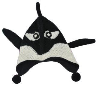 Wool Fleece Lined Kids Whale Beanie (Nepal)