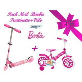 Méga Pack Noel Barbie Trottinnette pliable + Vélo   Achat / Vente