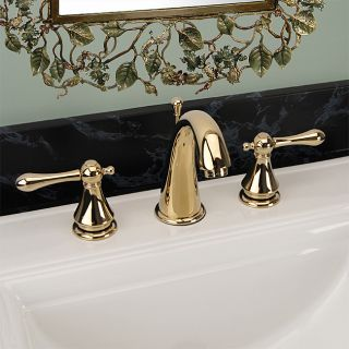 Fontaine Amalfi Wide Spread Polished Brass Bathroom Sink Facuet