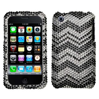 Apple iPhone 3G/ 3GS Zig Zag Design Rhinestone Diamond Protector Case