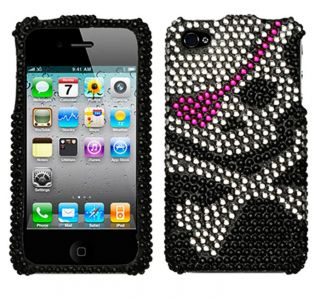 Apple iPhone 4 Skull Rhinestone Protector Case