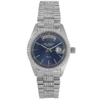 Jules Jurgensen Mens Elegant Sport Stainless Steel Blue Dial Watch