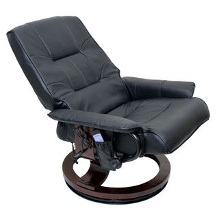 International Caravan Executive Massaging Reclining Chair and Ottoman