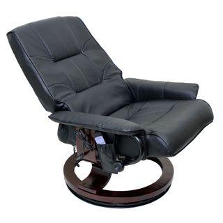 International Caravan Executive Massaging Reclining Chair and Ottoman