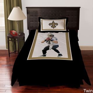 New Orleans Saints Drew Brees 4 piece Comforter Set