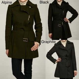 Kenneth Cole Womens Wool Belted Coat FINAL SALE
