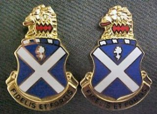 113th Infantry Distinctive Unit Insignia   Pair Clothing