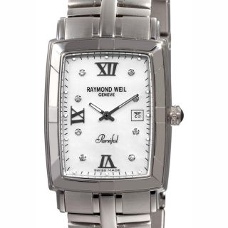 Raymond Weil Unisex Parsifal Mother of Pearl Diamond Watch