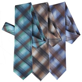 Boston Traveler Mens Plaid Microfiber Tie and Hanky Set
