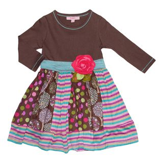 Beetlejuice London Girls Mixed Pattern Dress