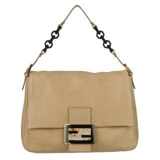 Fendi Mama Beige Leather Shoulder Bag