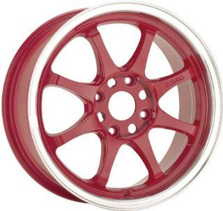 16x7 Konig Britelite (Gloss Red w/ Machined Lip) Wheels/Rims 5x114.3