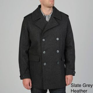 Geoffrey Beene Mens Darcy Wool Blend Peacoat