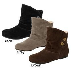 Bamboo by Journee Womens Faux Suede Ankle Boots