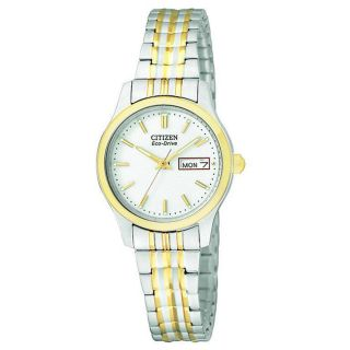Citizen Womens Eco drive Two tone Stainless Steel Watch