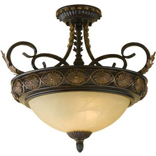 Round Table Family 2 light Semi flush Mount