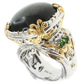 Michael Valitutti Two tone Black Opal Ring
