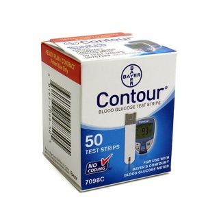 Bayer Contour Blood Glucose 50 ct Test Strips (Pack of 3)