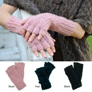 Jordan Fingerless Wool Gloves (Nepal)
