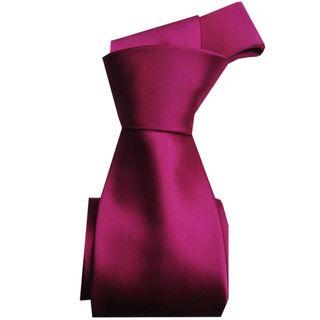 Dmitry Mens Fuschia Solid Italian Silk Tie