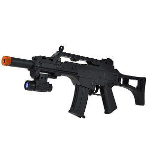 120 FPS Spring Airsoft Assault Rifle w/Multi Color LED
