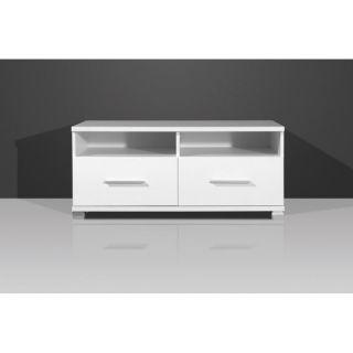NEVADA TV élément bas Blanc 98 cm   Achat / Vente MEUBLE TV   HI FI