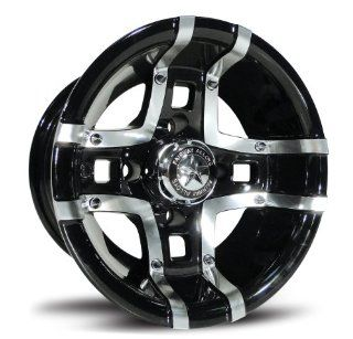 Fairway Alloys FA123 Prestige Machined Black Golf Cart Wheel   10x7