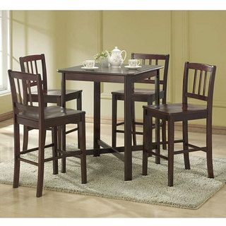 Espresso 5 piece Wood Dining Set