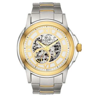 Bulova Mens BVA Series 110 Two tone Stainless Steel Automatic Watch