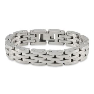 Stainless Steel Mens Brushed and Polished Bracelet