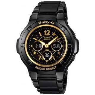 Casio Womens Baby G BGA121C 1B1 Black Stainless Steel Quartz Watch