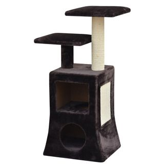PetPals Abstract Design Multi Platform Cat Tree, Includes 2 Condos and