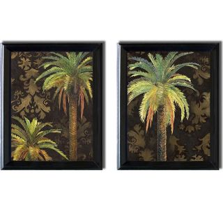 Patricia Pinto Palms I and II Framed 2 piece Canvas Art Set
