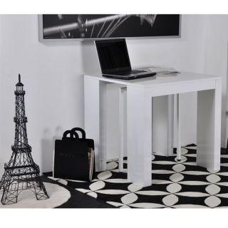 EXTRA Table Console laquée blanche 40/145 cm   Achat / Vente CONSOLE