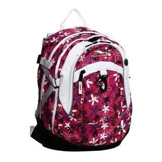 High Sierra Black/White/Cherise Daisy Fat Boy Backpack
