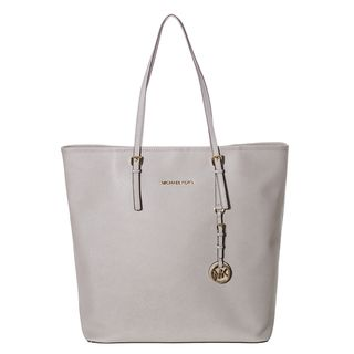 MICHAEL Michael Kors Jet Set Grey Leather Travel Tote Bag