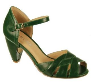 Chelsea Crew Nikki Ankle Strap Heels   Green 41 Shoes