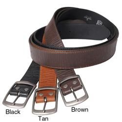 Boston Traveler Mens Embossed Leather Belt