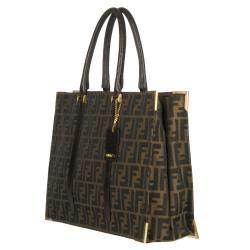 Fendi Classico No. 4 Canvas Zucca Tote Bag