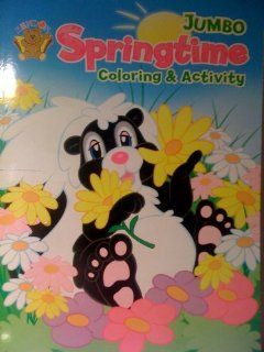 Jumbo Springtime Coloring & Activity Book (128 pages) Toys & Games