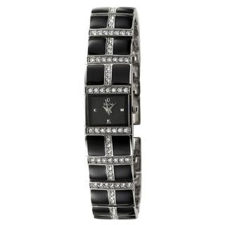 Bulova Womens Crystal Stainless Steel Quartz Watch