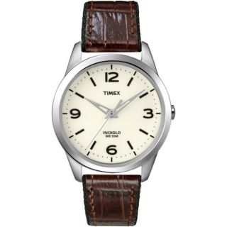 Timex Womens Weekender Casual Brown Leather Strap Watch
