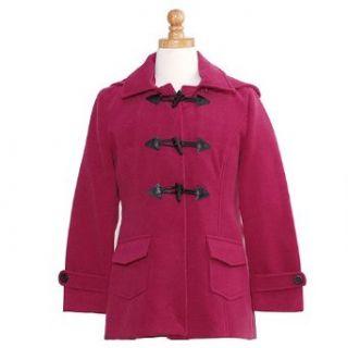 Shyla Coats Girls Size 12 Designer Raspberry Toggle Wool