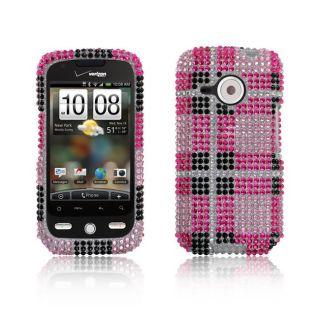 Premium HTC Eris 6200 Pink Big Checker Protector Case