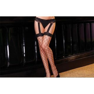 Lace Garter Belts with Thigh High Stockings (Pack of 2)