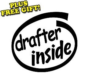 6 Drafter Inside Vinyl Sticker Decal [Die cut, Rocket
